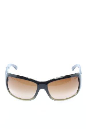 Chanel ovale Sonnenbrille schwarz-wollweiß Casual-Look