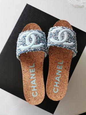 Chanel Zomerschoenen met hak veelkleurig Gemengd weefsel