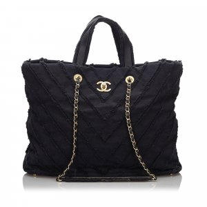 Chanel Paris Cuba Canvas Twist Tote