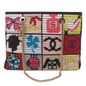 Chanel Patchwork Icon Tweed Shoulder Bag