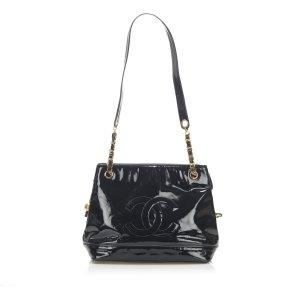 Chanel Shoulder Bag black imitation leather