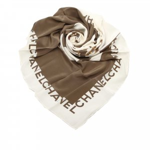 Chanel Pearl Printed Silk Scarf