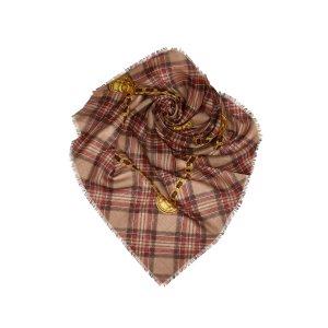 Chanel Écharpe beige soie