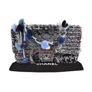 Chanel Pom Pom Tweed Flap Bag @mylovelyboutique.com