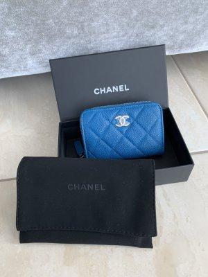 Chanel Wallet steel blue-neon blue