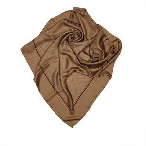 Chanel Écharpe brun soie