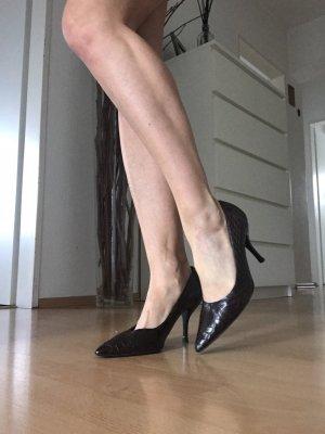 Chanel High Heels dark brown