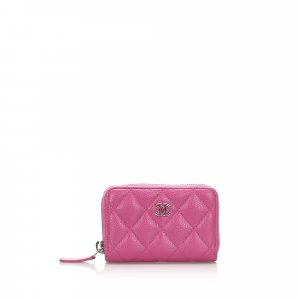 Chanel Quilted Caviar Leather Coin Purse