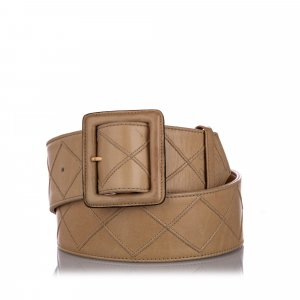 Chanel Belt beige leather