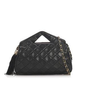 Chanel Tornister czarny Skóra