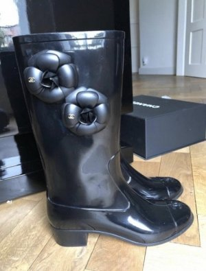 Chanel Wellington laarzen zwart