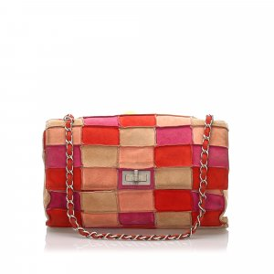 Chanel Borsa a tracolla rosa pallido Scamosciato