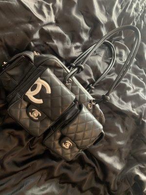 Chanel Shoulder Bag black-white leather