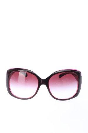 Chanel Retrobril roze-zwart kleurverloop casual uitstraling