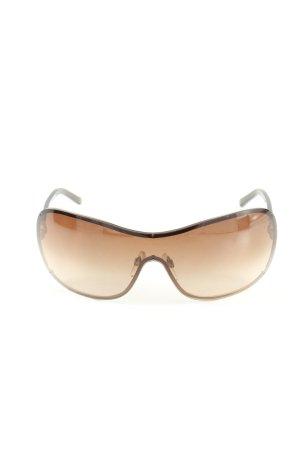 Chanel Occhiale stile retro marrone-crema Colore sfumato stile casual