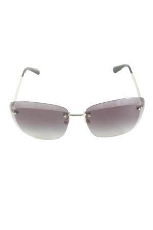 Chanel Retro Glasses silver-colored-black casual look