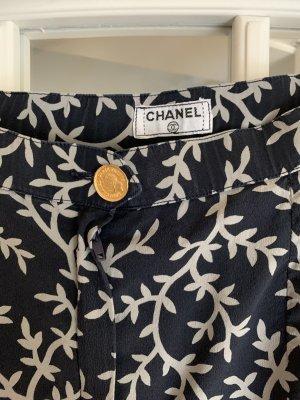 Chanel Silk Skirt blue-white silk