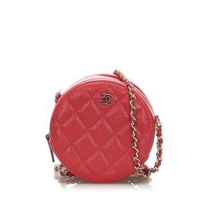 Chanel Borsa a spalla rosso Pelle