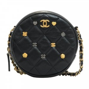 Chanel Round As Earth Lambskin Leather Crossbody Bag