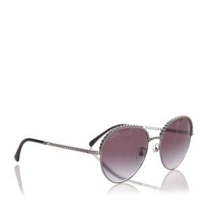 Chanel Gafas de sol color plata metal