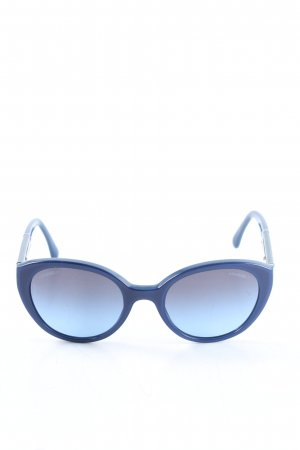 Chanel Oval Sunglasses blue casual look