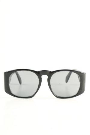 Chanel Gafas de sol redondas negro look casual