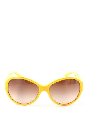 Chanel Okrągłe okulary przeciwsłoneczne bladożółty W stylu casual