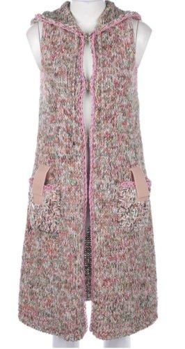 Chanel Grof gebreid vest roze-wit
