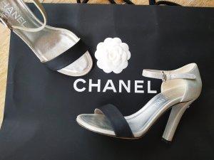 Chanel Sandaletto con tacco alto nero-argento