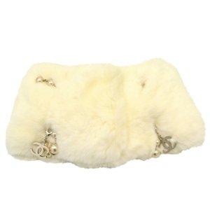 Chanel Sciarpa lavorata a maglia bianco Cotone