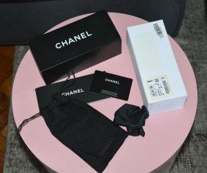 Chanel Gafas negro tejido mezclado