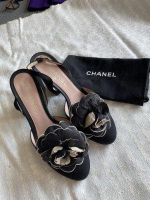 Chanel Décolleté modello chanel nero-rosa pallido