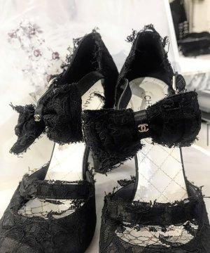 Chanel Hoge hakken sandalen zwart Leer