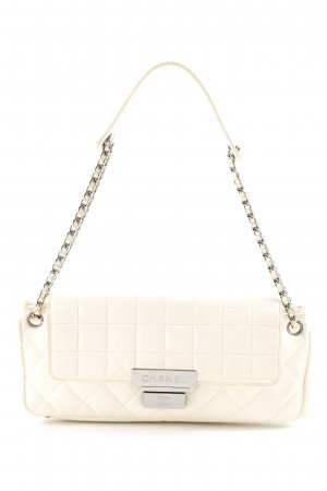 Chanel Schultertasche wollweiß Steppmuster Elegant