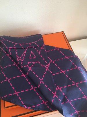 Chanel Zijden doek donkerblauw-magenta Zijde