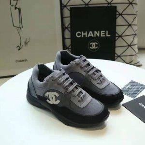 Chanel Basket montante gris foncé