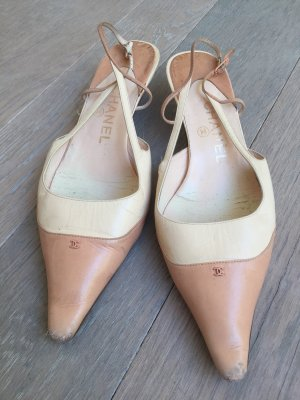 Chanel Sling- Pumps, nude