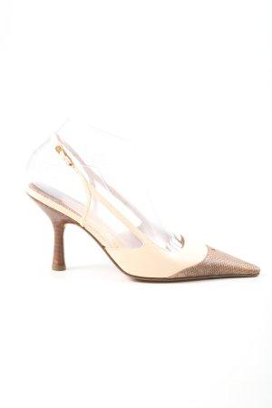Chanel Slingback Pumps natural white-brown elegant