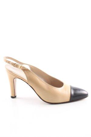 Chanel Slingback-Pumps creme-schwarz Elegant