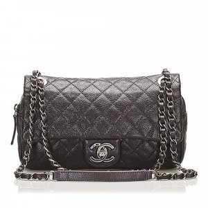 Chanel Small Classic Lambskin Leather Double Flap Bag