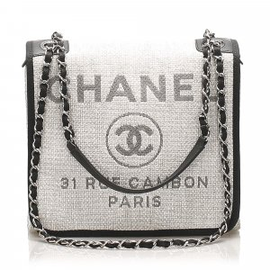 Chanel Small Deauville Straw Crossbody Bag