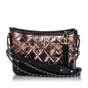 Chanel Bandolera color bronce Cuero