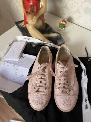 Chanel Sneaker schuhe Rosé Gr 36 mit Rechnung