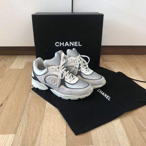 Chanel Sneaker Turnschuhe Sportschuhe Sneakers Silber Grau 38