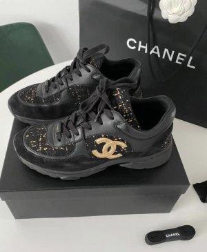 Chanel High Top Sneaker black
