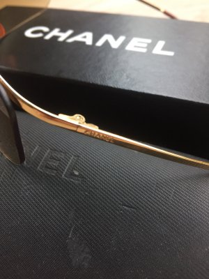Chanel Glasses gold-colored-light brown