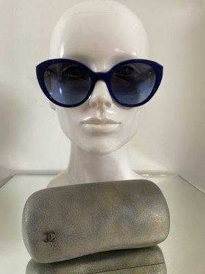 Chanel Oval Sunglasses blue