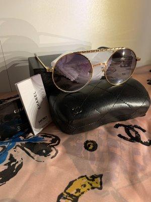 Chanel Occhiale da sole rotondo oro