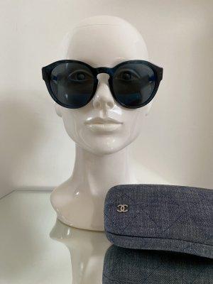 Chanel Okrągłe okulary przeciwsłoneczne ciemnoniebieski