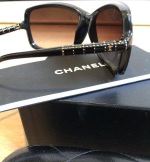 Chanel Vierkante bril zwart-goud